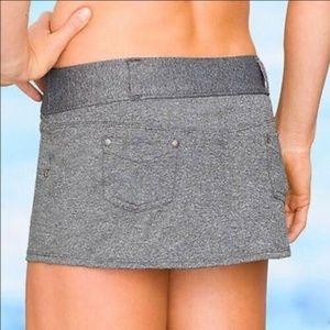 ATHLETA Asphalt Heather Bettona Bikini Swim Skirt